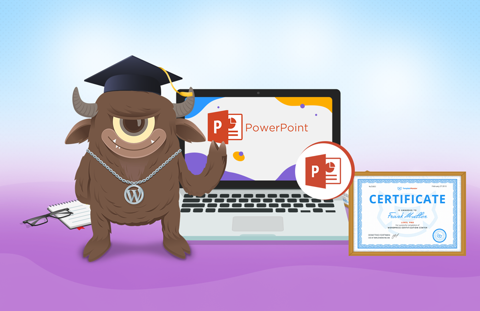 PowerPoint Certification by TemplateMonster